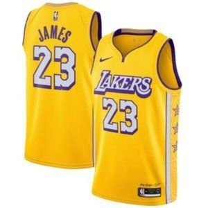 LeBron James Los Angeles Lakers Gold NBA Jersey